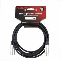 Cable Kirlin xlr-xlr 3 mts.